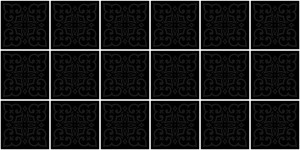 Tile - Moroccan Black on Black