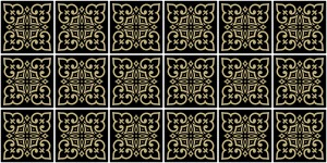 Tile - Moroccan Elegant Gold