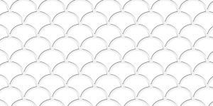 Tile - Scalloped White